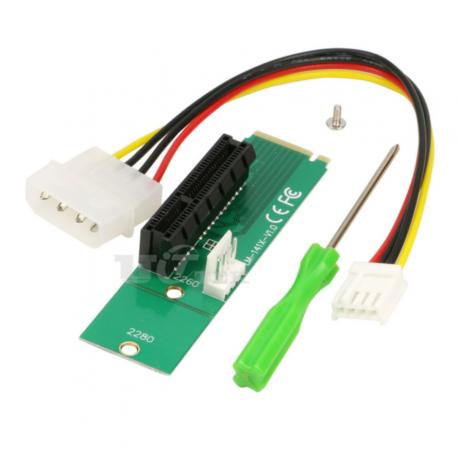 Carte adaptateur port M2 vers port PCIE 1x
