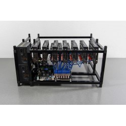 Chassis stackable 13 GPUs - Aluminium Noir (V2)