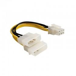 Adaptateur molex 4+4pins vers PCI Express 6pins
