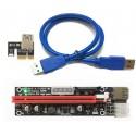 Riser USB 3.0 PCI Express 1x vers 16x (60cm) V06C
